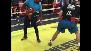 Bermane Stiverne Sparring at Mayweather Boxing Club Training For Povetkin!!