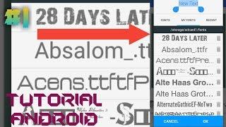 Cara Menambahkan Font Di Pixellab | Tutorial Android | #1