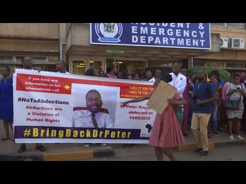 Eye on Africa - Zimbabwe doctors march as abducted leader still missing