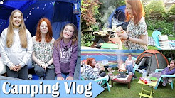 Camping Holiday Vlog, Putting Up Tent in Garden Campsite | NiliPOD