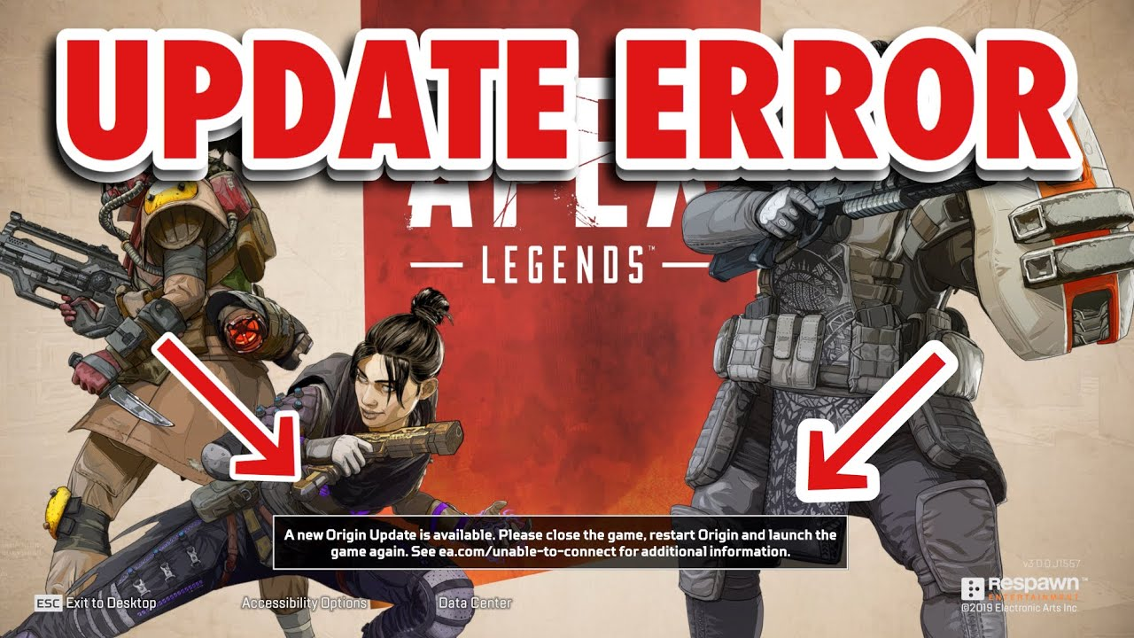 HOW TO FIX THE UPDATE ERROR IN APEX LEGENDS by BuzzFish