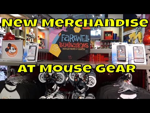 New Merchandise at Mouse Gear at Epcot! -Illuminations Farewell Merchandise & More
