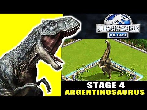 Jurassic World The Game - Stage 4 : Argentinosaurus Dinosaur (iphone Gameplay)