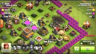 Clash of Clans: ATAQUE COM GIGANTES E MAGOS CV7