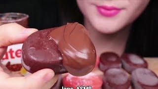 أصوات الأكل الحقيقية لعشاق الشوكولاته ايس كريم 😍 أتحداك ما تجوع 🍔🌮 موكبانغ Asmr #23 CHOCOLATE EATING