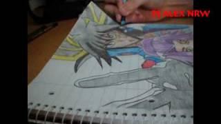 How to draw Yusei X Akisa ( YU-GI-OH 5Ds )