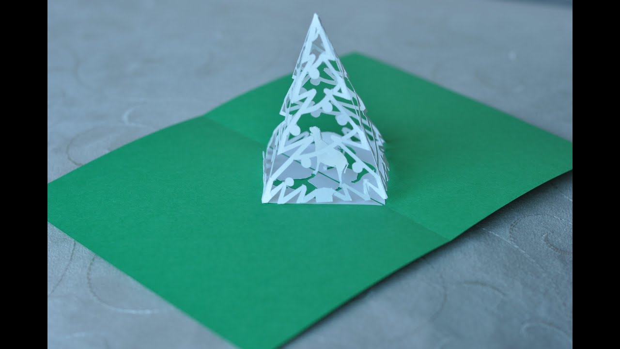 Christmas Pop Up Card Tutorial Complex Pyramid Tree