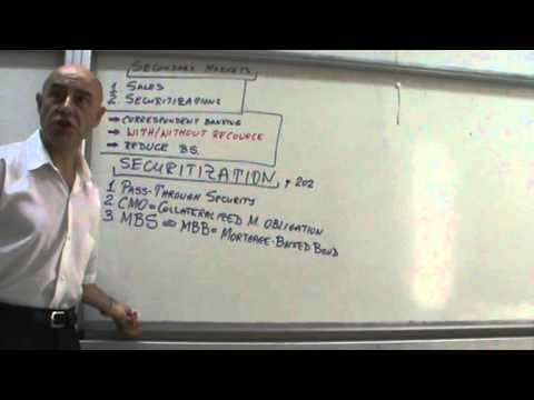 Financial Markets and Institutions - Lecture 19