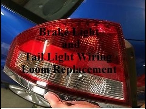 brake light and tail light wiring loom replacment ba falcon