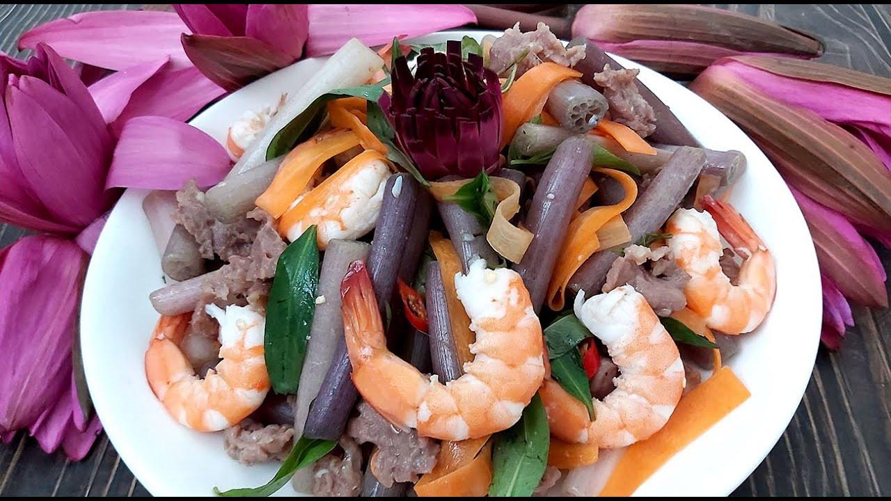 Cách làm Gỏi Bông Súng chua cay thật là ngon của Hồng Thanh Food - YouTube
