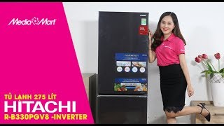 Tủ lạnh Hitachi R-B330PGV8BBK 275 lít-Inverter - Siêu tiết kiệm điện