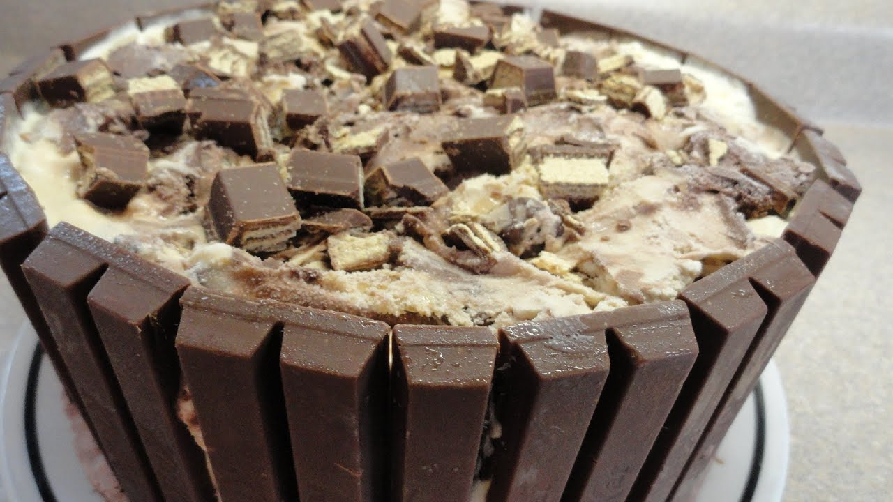 Easy Kit Kat Ice Cream Cake