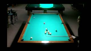 straight pool 2 racks run on 10 foot table from 99 ball run