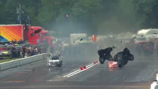 Dale Creasy blows the body off his Funny Car
