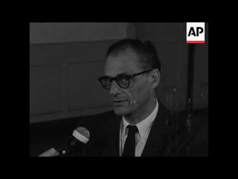 Interviews with Arthur Miller, Elia Kazan at opening of new Miller play
