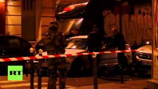 Paris shooting victims rushed to hosiptial