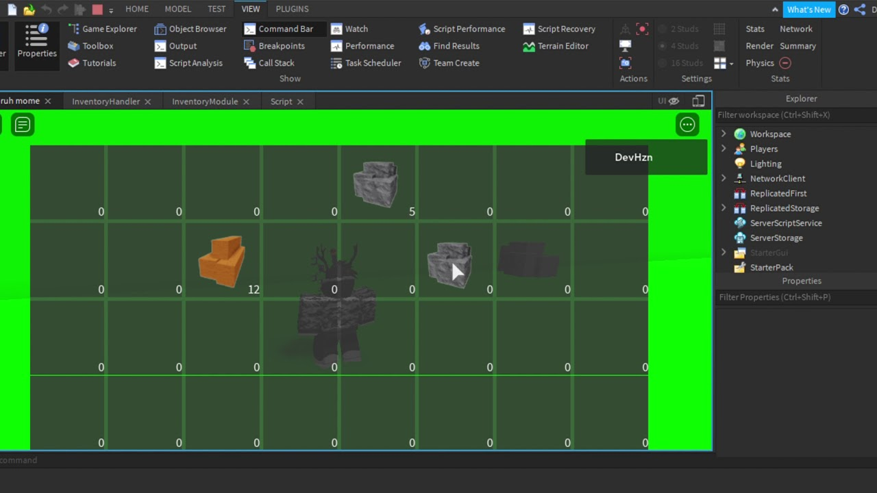 Roblox Inventory System I Made Maybe For A Game Idk Youtube