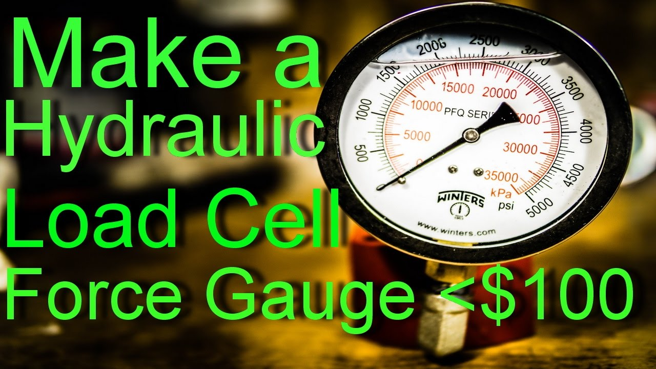 A SIMPLE WAY TO MEASURE FORCE WITH A SHOP PRESS! DIY FORCE GAUGE