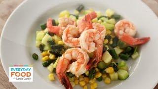 Poached Shrimp On Succotash - Everyday Food With Sarah Carey