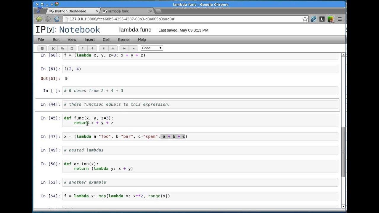 python lambda function tutorial