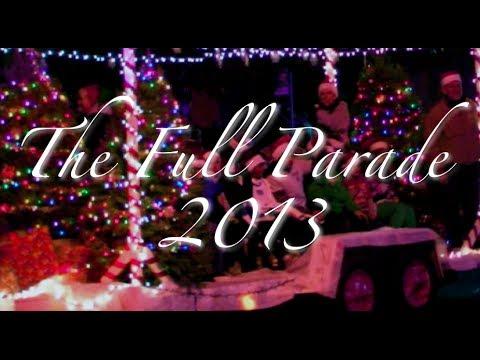 Celebration Of Lights Parade In Modesto, California / Dr. Seuss Christmas Parade / Full Parade 2013