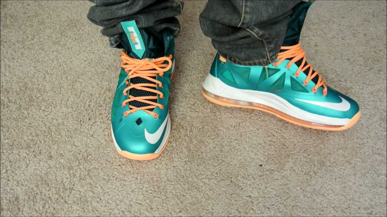 best website 3a343 a1e9b LeBron X (10)  Dolphins  On Foot