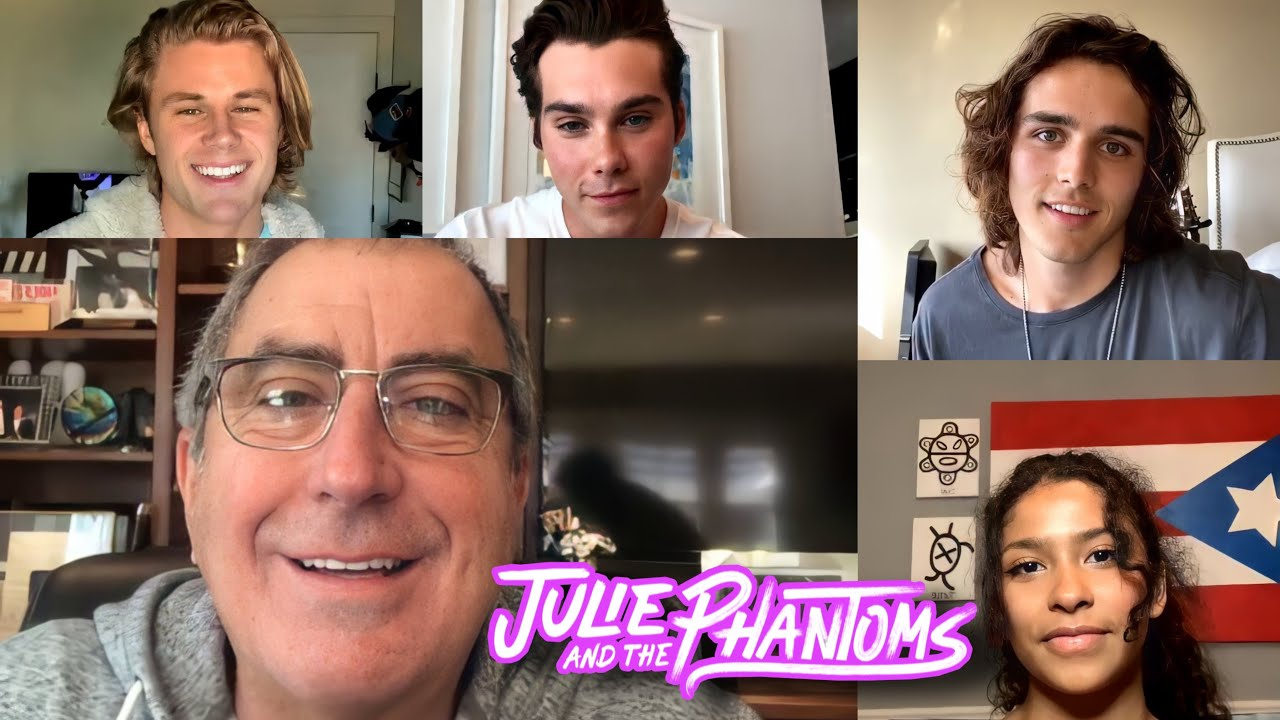 Julie and the Phantoms - Kenny talks with Madison, Charles, Owen & Jeremy (Instagram Live) - 9/26/20