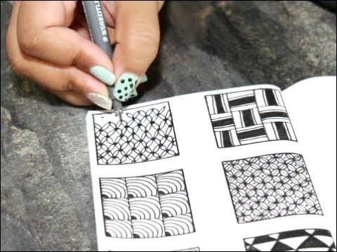 Easy 40 ZENTANGLE Patterns For Beginners Zen Art YouTube Adorable Cool Zentangle Patterns