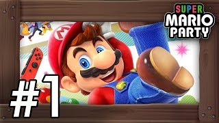 Super Mario Party: Walkthrough Part 1 - Whomp's Domino Ruins (4 Players Gameplay)