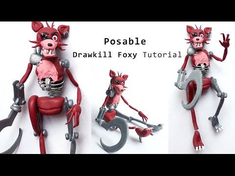 Drawkill Foxy / FOXY-b0t Posable Figure Polymer Clay Tutoria