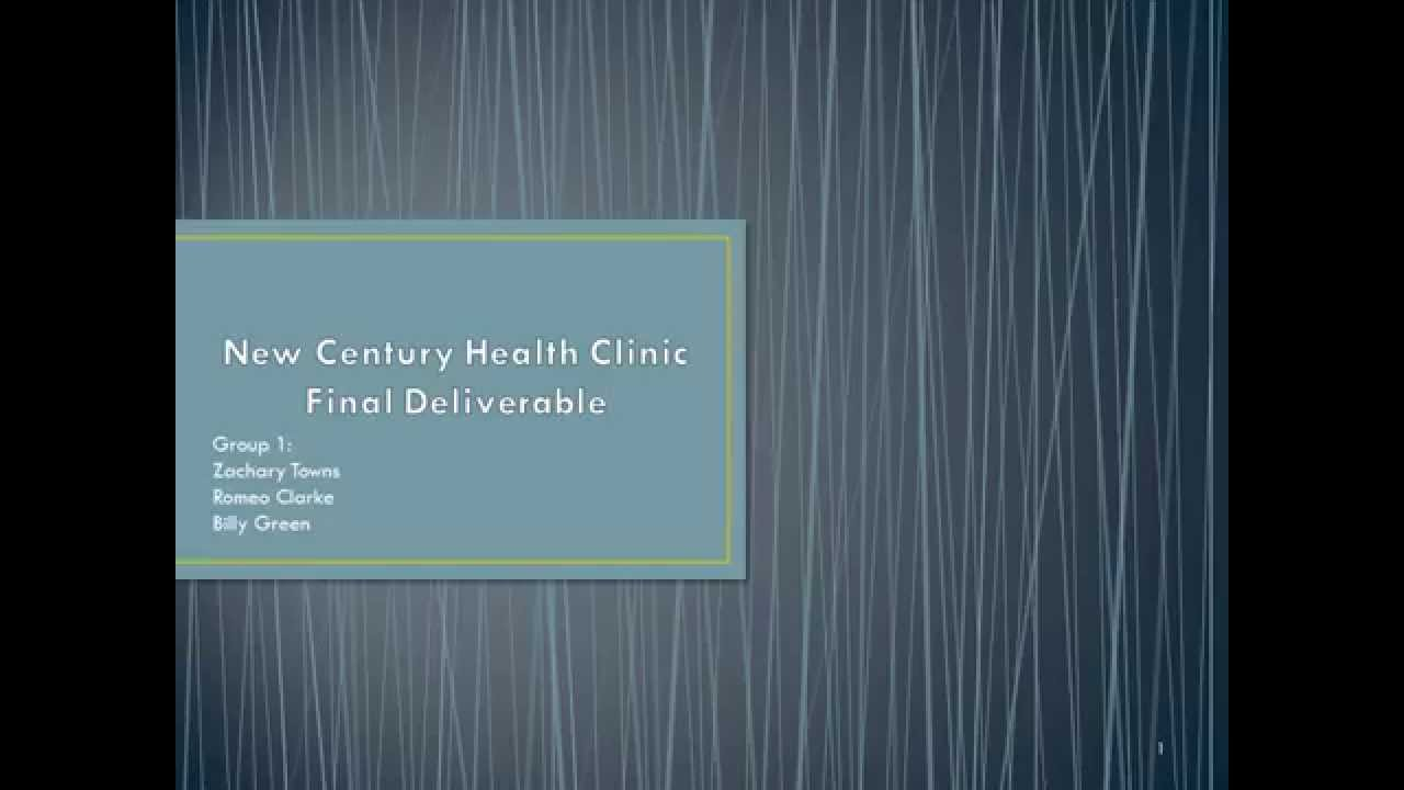 New century health clinic final deliverable youtube new century health clinic final deliverable ccuart Gallery