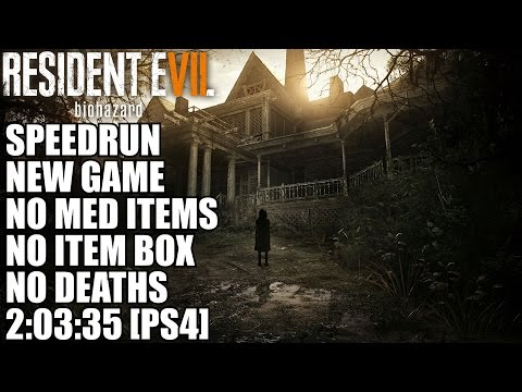 Resident Evil 7 Biohazard Speed Run Tutorial - [NG] No Health Items, No Item Box & No Deaths