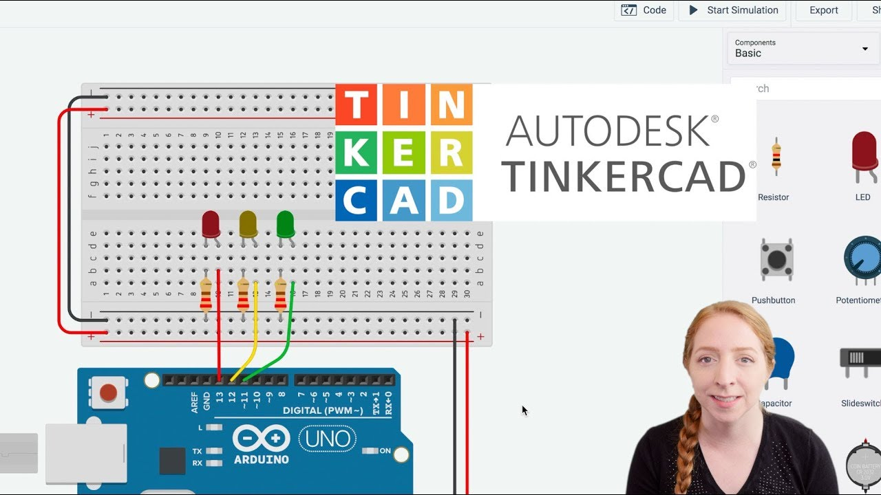 Series Circuit 3 Leds 0 Switches Youtube Breadboards With Arduino In Tinkercad