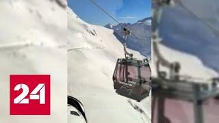 Лавина накрыла туристов на горнолыжном курорте в Швейцарии - Россия 24