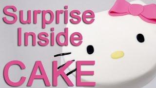 How To Make A Hello Kitty PINATA Cake!