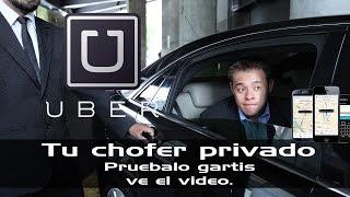 Uber tu chofer privado, un viaje gratis dentro del vídeo.
