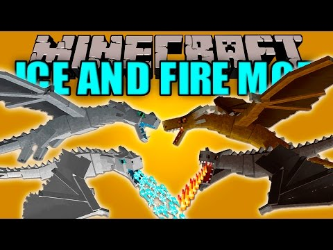 ICE AND FIRE MOD - Dragones Epicos!! - Minecraft mod 1.10.2 Review ESPAÑOL