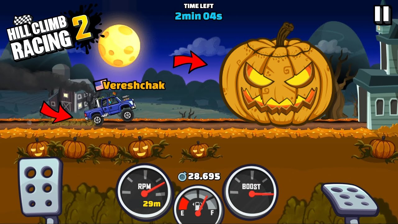 Download SPEEDY HOLLOW NEW EVENT - Hill Climb Racing 2 Gameplay Walkthrough
