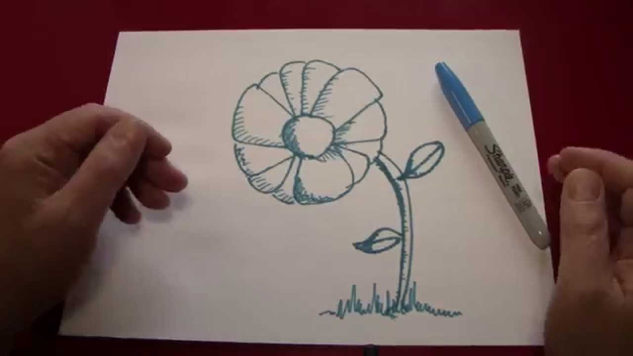 How to draw a beautiful 3d flower youtube for How do i draw a flower
