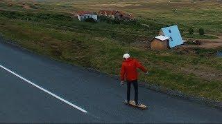 LONGBOARDING IN ICELAND LIKE WALTER MITTY! 4K