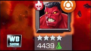 Marvel: Contest of Champions - 4-Star RED HULK Last Boss Battle + Ending [HARD MODE] [FULL]
