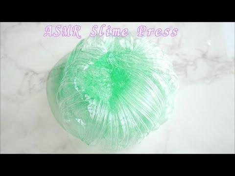 【ASMR】プレススライム🏸バドミントンラケットでパチパチ音☆【音フェチ】Press Slime 프레스 슬라임