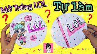 Mở trứng LOL bất ngờ TỰ LÀM / CÓ GÌ HOT??? Ami DIY Opening 2D Paper Custom LOL Surprise Dolls #1