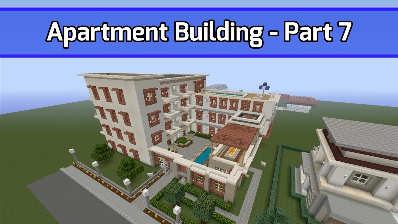 Apartment Building Minecraft minecraft: let's build apartment building -- part 7 (city texture