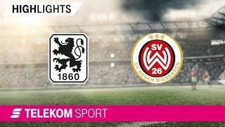 TSV 1860 München - SV Wehen Wiesbaden   Spieltag 8, 18/19   Telekom Sport