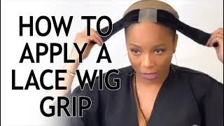 QUICK WIG TIP: How to Apply a Lace Wig Grip with Celebrity Stylist Kiyah Wright
