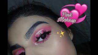 Pink makeup, maquillaje rosa💕|Aaleh Makeup