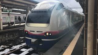[列車発車]E653系特急しらゆき直江津駅