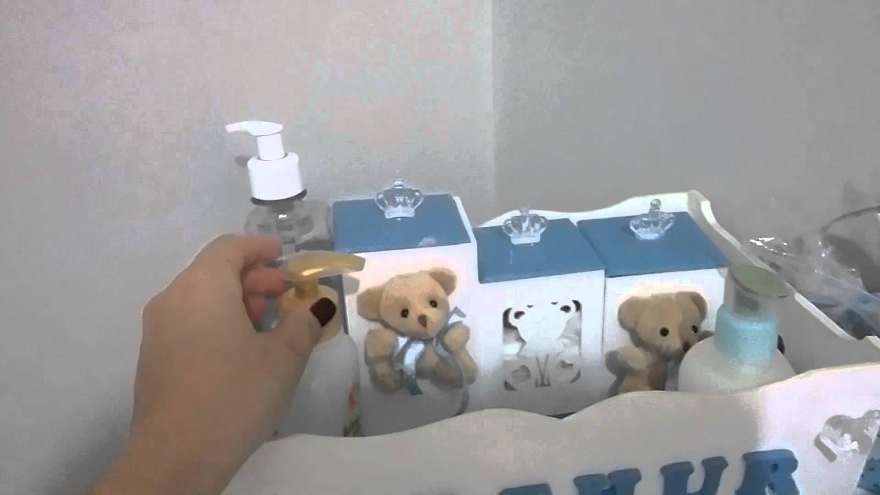 Decoraç u00e3o simples no quarto de beb u00ea YouTube -> Decorar Quarto De Bebe Simples