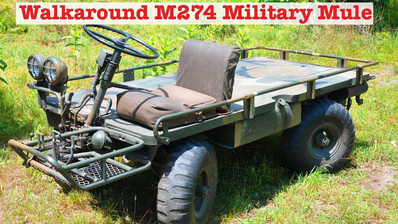 "Free Car History Report >> History of Army/Marine M274 ""Mechanical Mule"" & Walkaround - YouTube"